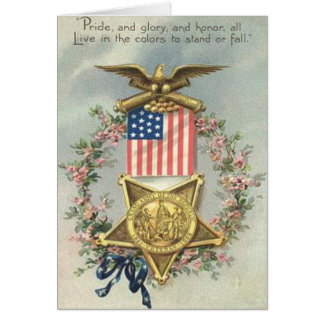 Grinalda de Eagle da medalha da guerra civil da Cartão Comemorativo