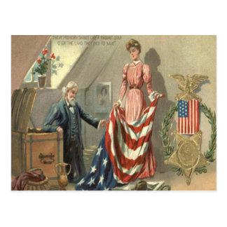 Grinalda de Eagle da medalha da guerra civil da Cartão Postal