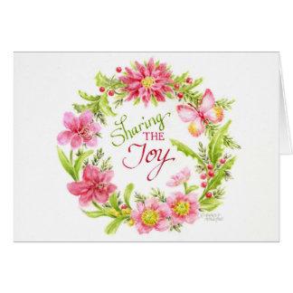 Grinalda do cartão do Natal que compartilha da