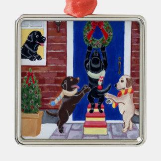Grinalda do Natal da pintura de Labrador do Natal Ornamento Para Arvore De Natal