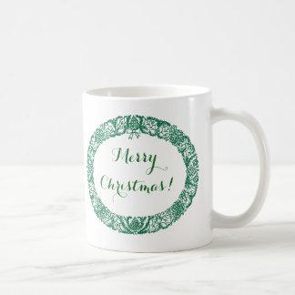 Grinalda do Natal de Forest Green a personalizar Caneca De Café