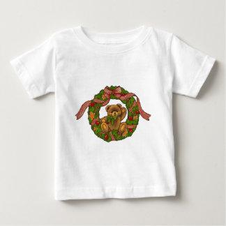 Grinalda do urso de ursinho do Natal T-shirt