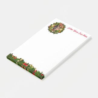 Grinalda do Xmas personalizada com sua própria Bloquinho De Notas