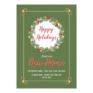 Grinalda elegante boas festas do cartão Home novo