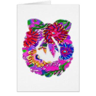 Grinalda floral da flor ART101 por Navin Cartão Comemorativo