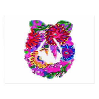 Grinalda floral da flor ART101 por Navin Cartão Postal