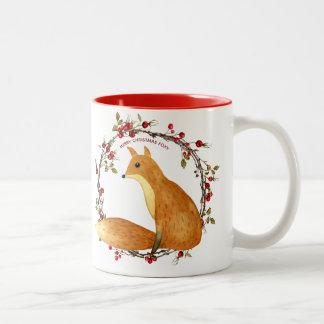 grinalda foxy das bagas da raposa da caneca do