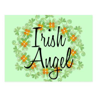 Grinalda irlandesa do trevo do anjo cartão postal