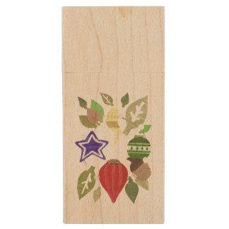 Grinalda Pendrive de madeira do Bauble Pen Drive De Madeira