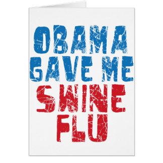 gripe dos suínos de obama cartão comemorativo
