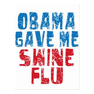 gripe dos suínos de obama cartões postais