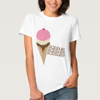 Gritar para o sorvete camisetas
