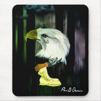 Gritos Mousepad de Eagle do americano