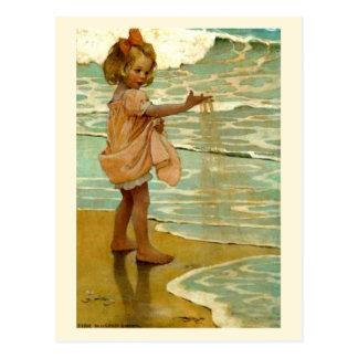 Grões de areia pequenas cartão postal