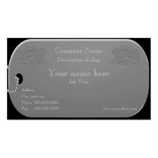 Groomer do cão ou cartão de visita do instrutor de