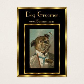 Groomers 2 do cão do vintage do cartão de visita