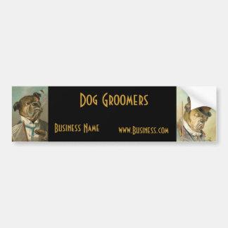 Groomers do cão do vintage do negócio do autocolan adesivo para carro