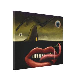 Grotesco - canvas de pintura surreais 11x14 de Dig Impressão De Canvas Esticadas