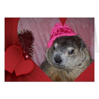 Groundhog, cartão do dia dos namorados de Clara