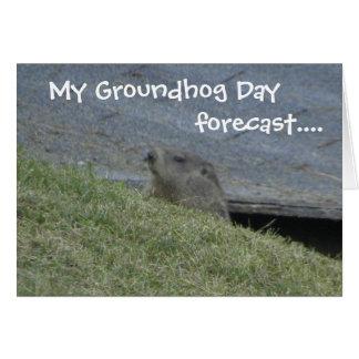 Groundhog previu - o cartão do dia de Groundhog