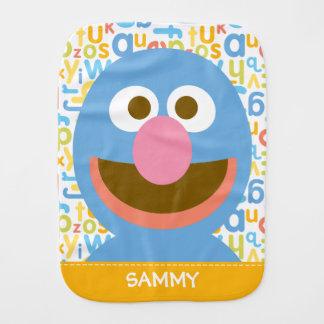 Grover Baby| adiciona seu nome Fraldinhas De Ombro