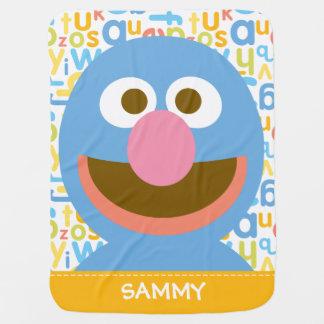 Grover Baby| adiciona seu nome Manta De Bebe