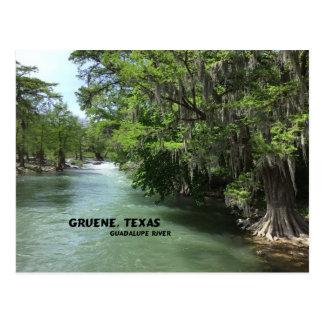 Gruene, Texas e Guadalupe River Cartão Postal