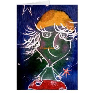 Grüneline Arte Card de amizade Cartão Comemorativo