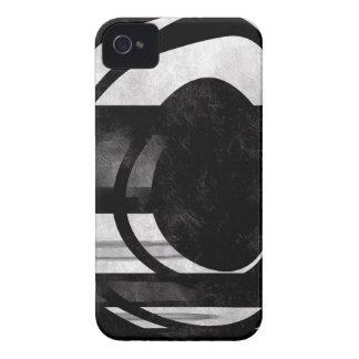 Grunge abstrato preto e branco capinha iPhone 4