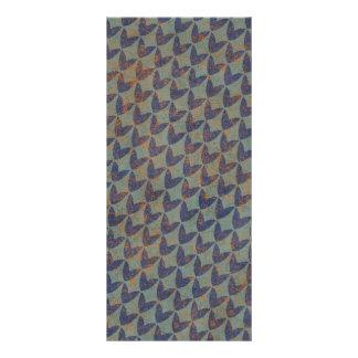 GRUNGE ALARANJADO ARR dos AZUIS MARINHOS CINZENTOS 10.16 X 22.86cm Panfleto