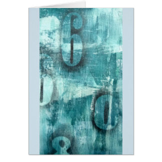 Grunge azul cartão mergulhado