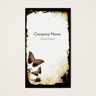 Grunge da borboleta cartão de visitas