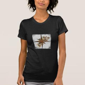 Grunge da estrela do compasso de Steampunk Camiseta