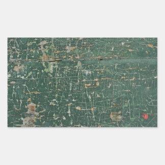 grunge de madeira velho da pintura da textura do adesivo retângular