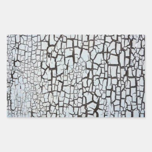 grunge de madeira velho da pintura da textura do adesivos retangular