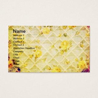 Grunge do papel de parede do rosa amarelo do cartão de visitas