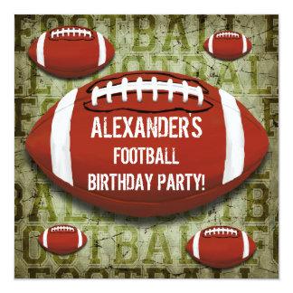 Grunge do verde do vintage da festa de aniversário convite personalizados
