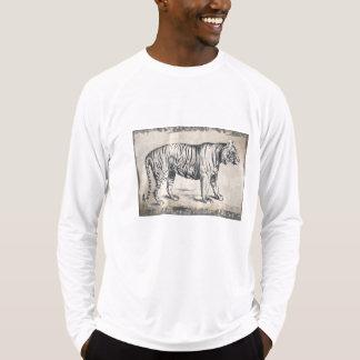Grunge dos animais selvagens do vintage do tigre camiseta