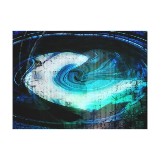 Grunge estrangeiro da paisagem impressão de canvas envolvidas