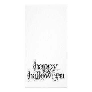 Grunge o Dia das Bruxas feliz de Swirly Cartão Com Foto