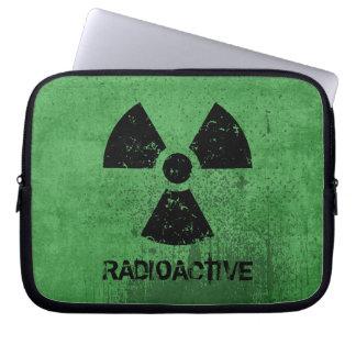 Grunge radioativo da Seleto-UM-Cor Sleeve Para Notebook