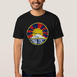 Grunge redondo livre de Tibet Camiseta