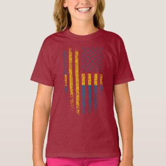 Grunge sueco da bandeira americana camiseta