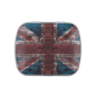 Grunge Union Jack - na parede de tijolo Latinhas Mint To Be