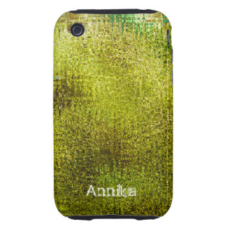 Grunge verde ácido capa iphone 3 personalizado