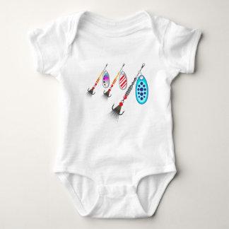 Grupo aleatório de vetor diferente das cores dos body para bebê