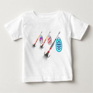 Grupo aleatório de vetor diferente das cores dos camiseta para bebê