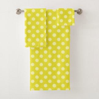 Grupo amarelo de toalha das bolinhas