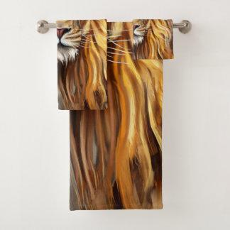 Grupo artístico de toalha do banheiro da cara do