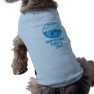 Grupo azul do apoio das sombras camisa sem mangas para cachorro